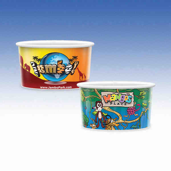 Short 8oz-Microwavable Paper Container