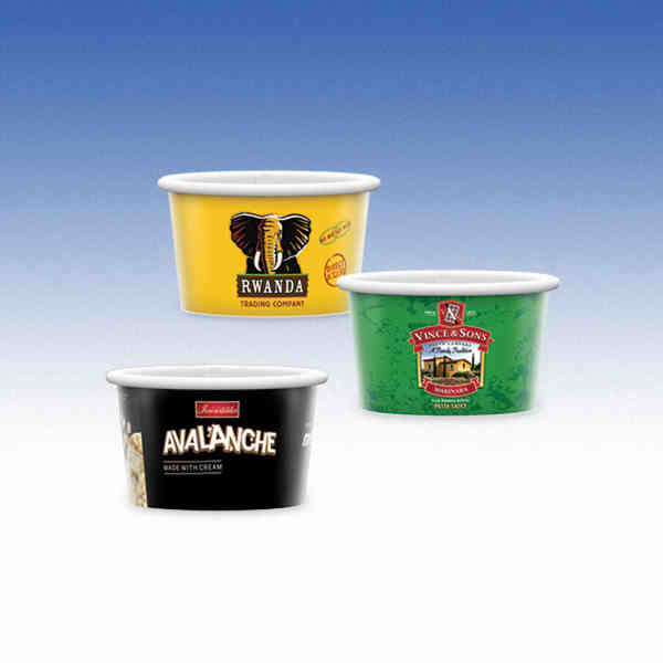 3oz-Microwavable Paper Container with