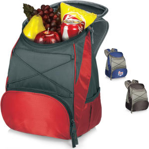 Insulated backpack cooler.