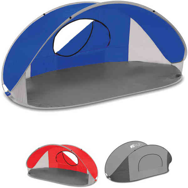 Portable pop-up sun/wind shelter