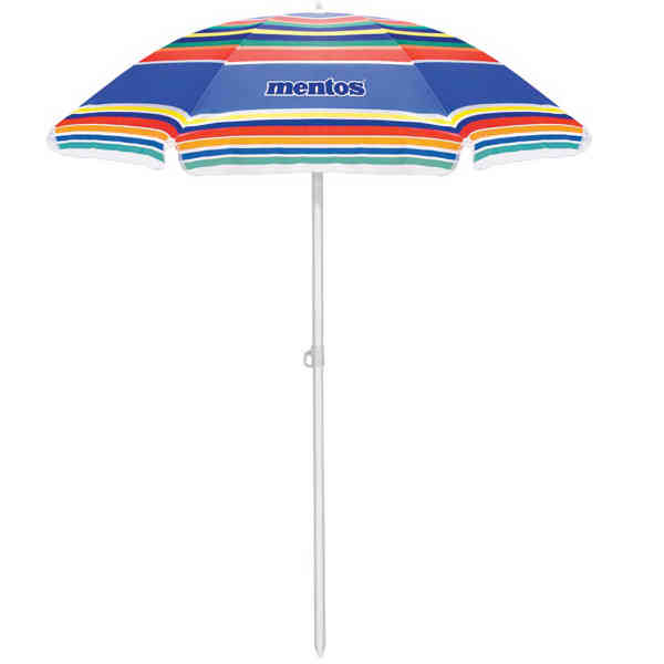 Multi-color striped umbrella with