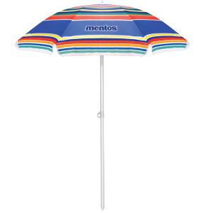 Multi-color striped umbrella with