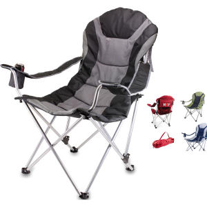 Folding chair with padded