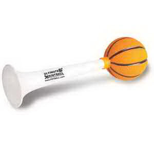 Rubber basketball horn.