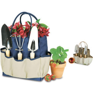 Lightweight canvas gardening tote