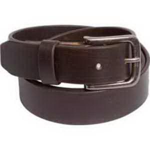 Brushed brown belt.
