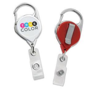 Promotional Retractable Badge Holders-704-CLP-REEL