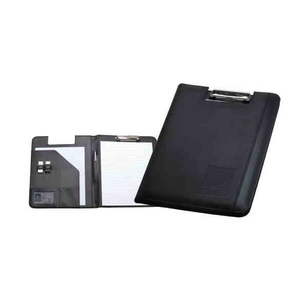 This padfolio features a