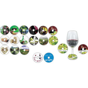 Compostable wine glass tag.