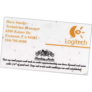 Seeded paper business card.