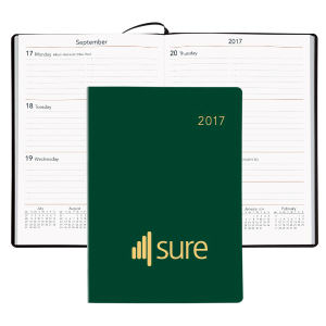 Portable weekly desk planner,