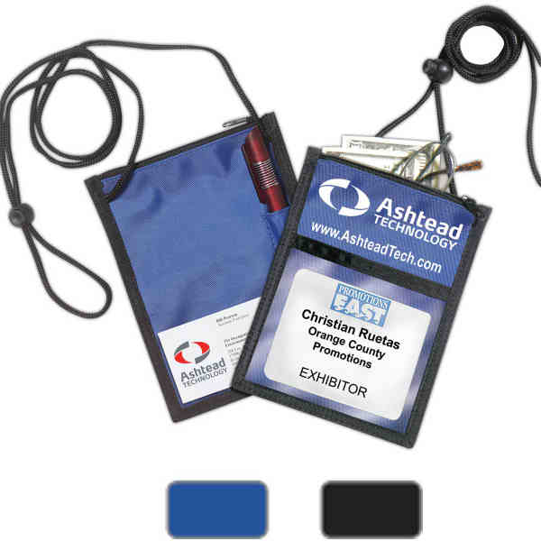 Trade show 5-function badge