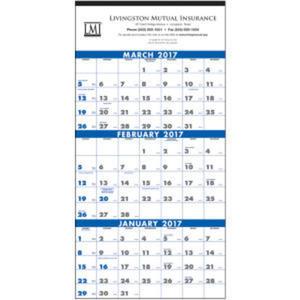 Calendar. 3-month planner (4-sheet)