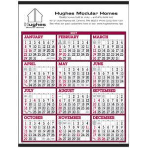 Big numbers span-a-year calendar.