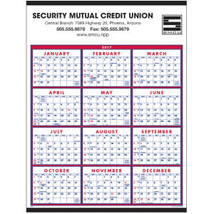 Span-a-year calendar with maximum