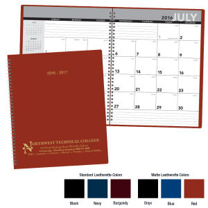 2016-2017 Academic monthly planner