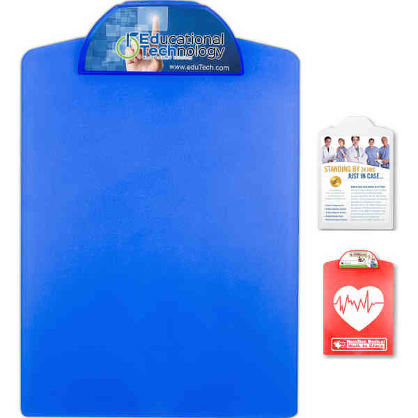 Letter size clipboard with