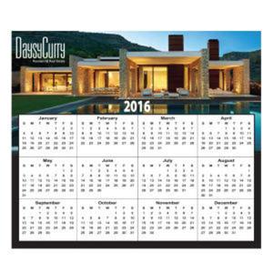 Calendar magnet designed to