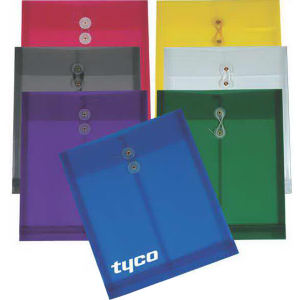 Translucent top-open envelope with