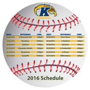 Baseball schedule magnet designed