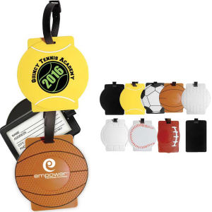 Sport luggage tag is