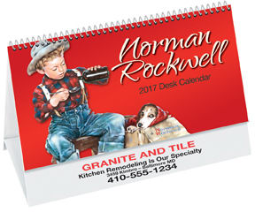 Rockwell desk calendar with