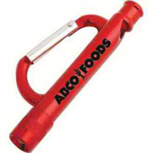 Carabiner flashlight with a