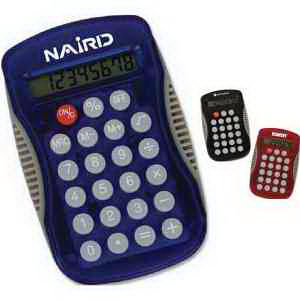 Calculator with curved design