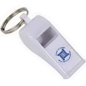 Whistle with key ring.