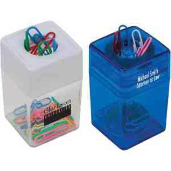 Paper clip dispenser.
