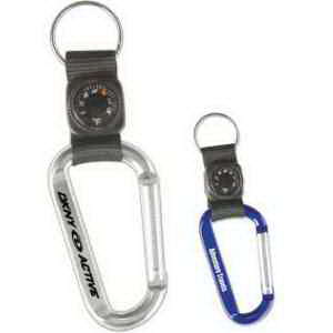 Carabiner with thermometer key