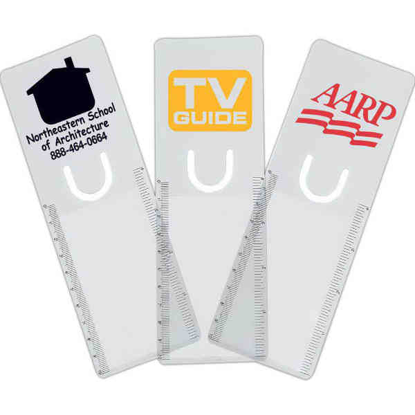 Clear bookmark magnifier with