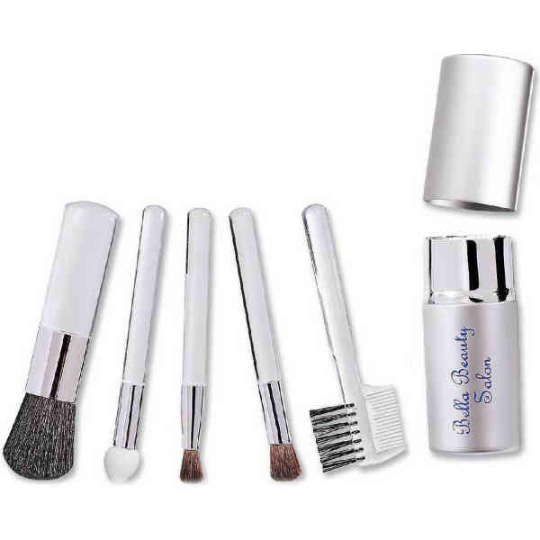 Five piece cosmetic brush
