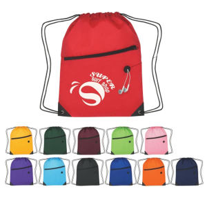Sports pack with drawstring