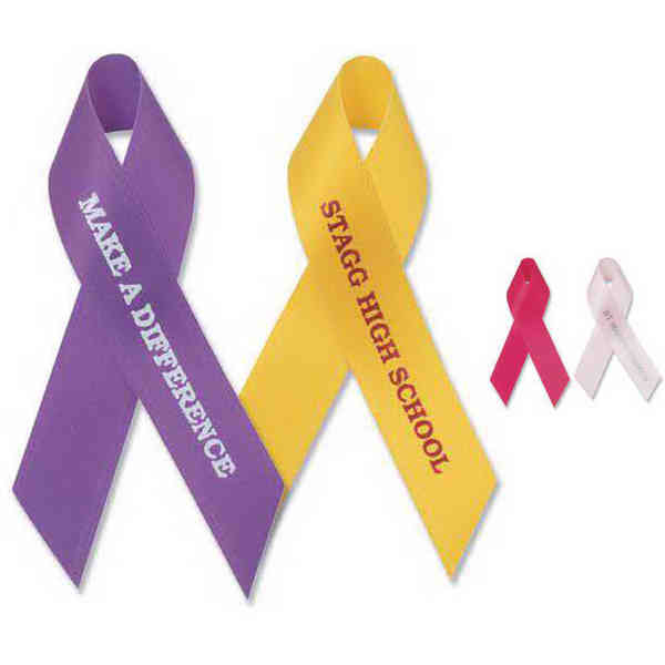 Awareness ribbon with tape