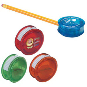 Plastic pencil sharpener with