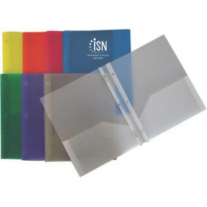 Translucent presentation folder with