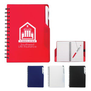 Spiral notebook with matching