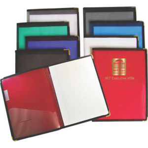 Large ribbed poly padfolio