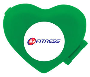 Heart shaped pedometer with