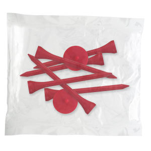 Golf tee poly packet