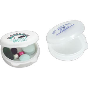 Pill box with round