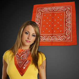 Orange cotton bandana, 22