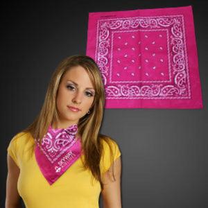 Pink cotton bandana, 22