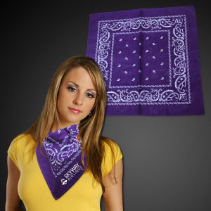 Purple cotton bandana, 22