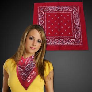 Red cotton bandana, 22