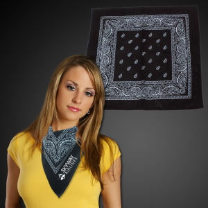Black cotton bandana, 22
