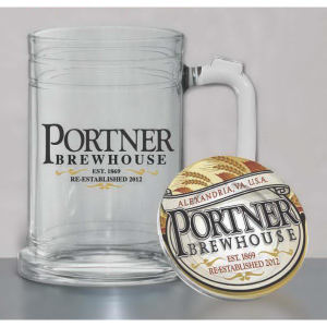 Glass tankard, 15 oz.