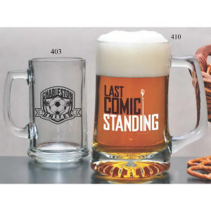 Glass 15 oz tankard.