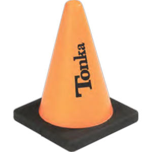 Construction cone shaped stress